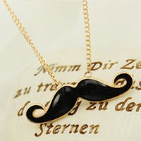 Wholesale Mustache Silver - Fashion personality mustache Pendants necklace sweater chain