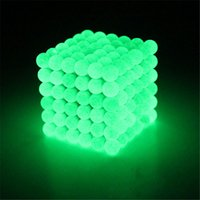 Wholesale Glow Dark Children - Glowing In The Dark Buckyballs Magnetic Cube For Child light up Education Puzzle Buck Ball Toy Fluorescence 5mm Cubes Creative OTH628