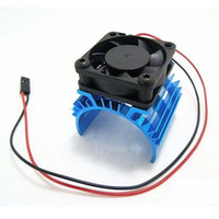 Wholesale Black Electric Fan - Aluminum Heat sink & 5V Cooling Fan for 1 10 RC Car 540 550 3650 Size Motor