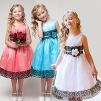 Wholesale Pink Zebra Princess - New Girls Embroidered Lace Gauze Bow Vest Dress Dresses Girl Prom Dresses Summer Princess Dress High quality children dress lace princess