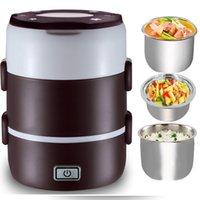 nuevo enchufe ce al por mayor-Nuevo Portátil Eléctrico Calentador Portátil Compacto Calentador de Alimentos Lunch Food Box Bento Box us AU enchufe de LA UE