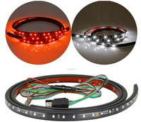 Wholesale Strip Lights For Trucks - Flexible 5-Function Red White LED Light Strip Tailgate Bar Backup Reverse Brake Tail Turn Signal Light for Truck SUV Pickup