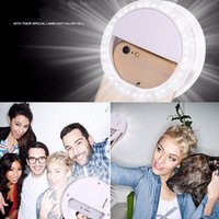 Selfie LED Ring Flash Light Light de la caméra Flash de la lumière Flash Light Night Shot pour iPhone samsung Luminosité réglable