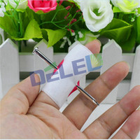 Vente en gros - Hot Sale 2pcs Fake Blood Manmade Nail Through Finger With Bandage April Fool Trick Prop Scary Toy