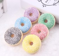 Wholesale Kawaii Magnets - 6.5cm Kawaii Rare Squishy colorful donut refrigerator magnets mix color Wholesale Free Shipping squishy packages kids kitchen food toys