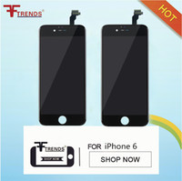 Wholesale Iphone 5pcs - LCD Display Touch Digitizer Complete Screen with Frame Full Assembly Replacement for iPhone 6 100% Tested 5pcs lot