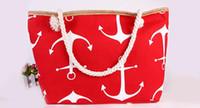 çanta dhl nakliye toptan satış-Çanta Kadın Çizgili Tekne Çapa Çanta Tasarımcısı Omuz Messenger Çanta Yaz Çanta Çanta Tote DHL Ücretsiz Kargo