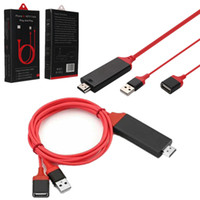 HD 1080p Micro USB zu HDMI HDTV Adapter Handy Display Kabel Sync zu TV Projektor Monitor Für Ipad Iphone Samsung Android Phone