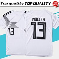 Wholesale National Team Soccer Uniforms - 2018 world cup home white Soccer Jersey#13 MULLER national team soccer shirt #10 OZIL #8 KROOS #19 GOTZE Football uniforms sales #5 HUMMELS