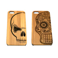 Wholesale Galaxy Bamboo Case - For Iphone 6 6s Plus 5 5s SE Natural Wooden Bamboo Back Cover Case For Samsung Galaxy S5 S4 OPP Bag