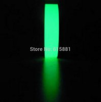 Wholesale Security Signs Warning - Wholesale-(Green) 2cm x 20M Luminous tape stickers Stage Home Decoration Traffic Signs Warning Fluorescent Tape Security & Protection