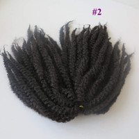 "Wholesale long curly hair extensions - 100% Kanekalon Afro Twist Kinky Marley Twist Hair Extension Marley Braid Hair 20"" Long 1 1B 2 4 30 33 burgundy Factory Direct"