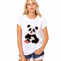 Wholesale Panda Tee - Summer Women Casual Fashion O-neck Short Sleeve Cute Panda Print Slim Tops Tees Harajuku Style Girl T-shirts Loose Plus Size 3XL Clothing