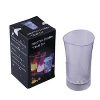 Wholesale Plastic Christmas Mug - Flashing LED Sensor Cup Glass Coffee Mug Bar Party Wedding Holiday Club USE with Retail Package Plastic Cups