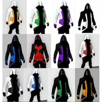 Wholesale Custom Zipper Hoodies - Hot Sale Custom handmade Fashion Assassins Creed 3 III Connor Kenway Hoodies Costumes Jackets Coat 12 colors choose direct from factory