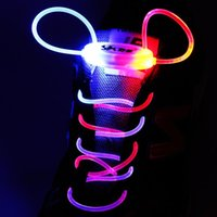 Wholesale Pair Cosplay - 30pcs(15 pairs) 3 Mode LED Light Up Shoe Shoelaces Shoestring Flash Glow Stick Strap for Party Hip-hop Skating Running Cosplay Decoration