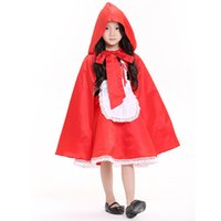 2017 vestiti per bambini prescolari Halloween mascherata mostrano ragazze fiaba Little Red Princess Dress