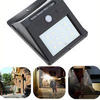paisagem, desenho venda por atacado-Novo design Solar Sem Fio lâmpada LED 12 leds solar LEVOU luz de parede paisagem quintal lâmpada de parede solar
