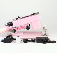 otomatik seks topu toptan satış-Kadın Seks Oyuncakları Ayarlanabilir Altın Gun Cannon Makineli Tüfek Mastürbasyon Makineli Tüfek Yapay Penis Ile Otomatik Teleskopik Seks makinesi