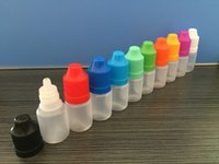 Wholesale Short Plastic Bottles - Soft Style PE Short Tips Bottle 5ml 10ml 15ml 20ml 30ml 50ml 60ml 100ml Plastic Dropper Bottles Child Proof Caps LDPE E Liquid Empty Bottle