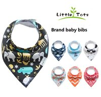 Wholesale Newborn Boys Cloths - Baby Bibs Newborn Burp Cloths Slabbetjes Bandana Infants Cotton Boys Girls Saliva Cute Arrow animal friuts Cartoon Feeding Scarf 2017 ins