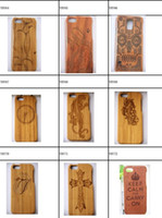 "Wholesale Iphone Wood Plastic Case - PU Hard Protector Cover Genuine Rosewood carbonized bamboo Cherry Wood Wooden Phone Case For iPhone 6 4.7"" 6 Plus 5.5 iphoneX iphone8 8plus"