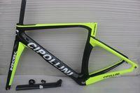plata mate carbono al por mayor-2016 brillante o mate1k Cipollini NK1K Negro Plata Carbono Cuadro de bicicleta de carretera XXS XS S M LFrameset con Auricular del asiento del tenedor
