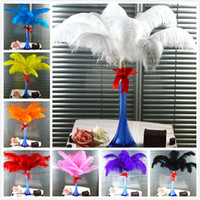 ostrich feathers wedding decorations NZ - CHINAZP Factory New 50Pcs Hot Sellling 35-40cm(14~16inch) DIY Ostrich Feathers Plume Centerpiece for Wedding Party Decorations