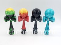 "Wholesale Kendama Strings - NEW Full Metallic Kendama marble crack And Extra String multiple Colour USA standard Solid Wood Toy 7.25"" Inches Tall Traditional Size kenda"