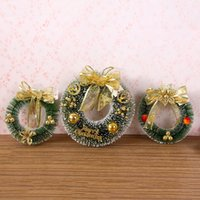Wholesale merry christmas wreath - Pine Needles Garland Merry Christmas Home Party Wreath Indoor Wall Decorated Flower Tree Ornament Scene Props 8 5hy F R