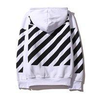Wholesale Mens Belt Cotton - New 2016 OFF WHITE mens pullover stripe offset print hoodies fleece Sweatshirts brand HBA Vision religion painting VIRGIL ABLOH