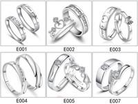 neue verstellbare moderinge großhandel-NEUE Art- und Weisesilberschmucksachen justierbare 27 Entwürfe Frauenmänner verbinden Ring-Hochzeitskristall CZ-Ring-Parteikleidschmucksachen