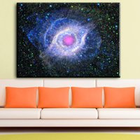Wholesale Universe Poster - ZZ1771 Frameless Abstract Space Universe galaxy nebula stars landscape art poster prints living room wall paintings home decor