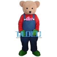 mascotes de urso adulto venda por atacado-Novo Cartoon Adulto Fofo Urso Dos Desenhos Animados Da Mascote Do Traje Do Vestido Extravagante.