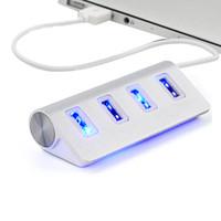 hub usb para tablet pc venda por atacado-Alta Velocidade 4 Portas USB 2.0 Hub HUB Porto USB Portátil OTG Splitter para Apple Macbook Air Laptop Tablet PC