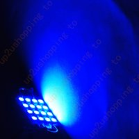 Wholesale 42mm Festoon Bulb Blue - 10 x Pure Blue LED Bulbs 42mm Festoon 16-SMD 3528 Dome Map Cargo Light 12V DC for free shipping