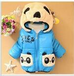 Wholesale Child Panda Jacket - retail 1pc Children Clothing panda Cartoon Outwear Child Boy Winter Wear Thickening Outerwear Coat Kids cotton-padded jacket