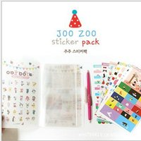 Wholesale Paper Products Stationery - Wholesale- Jetoy JOOZOO kawaii sticker masking paper diary stickers, 8 sheets planner stickers sticky notes papeleria stationery products