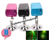 Prezzo di fabbrica 150mW GreenRed Laser blu / nero / rosa Mini Laser Stage Lighting con Baterry per vacanza DJ Party Dance Floor Light