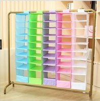 Wholesale Sort Shoes - 9 Cell Hanging Box Underwear Sorting Clothing Shoe Jean Storage Mails Door Wall Closet Organizer Closet Organizer Bag KKA2297