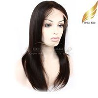 Wholesale Hair Stretch Combs - Full Lace Wig Brazilian Hair Human Hair Wigs with Combs and Stretch Natural Color Silky Straight Medium Cap Bellahair