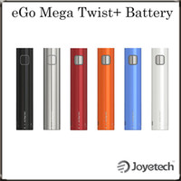 Wholesale Ego Vw - Joyetech eGo Mega Twist+ 2300mAh Battery with VW BYPASS Modes Dual Circuit Protection with Multiple Colors 100% Original DHL Free