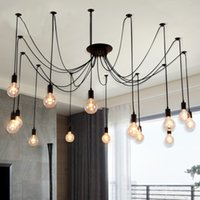 Bureau Loft Edison Chandelier Morden Creative Edison Ampoules Pendant Light Light Antique Edison Bar Salon Luminaire