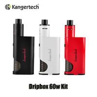 Wholesale Drip Coil Atomizer - 100% Original Kangertech Dripbox 60w Kit 7.0mL Subdrip atomizer 18650 battery Dripmod Replacement drip coil