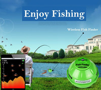 Wholesale Sonar Fish Detector - Wireless WIFI Sonar Fishing Finder 50M 130 Feet (45M) Deeper Fish Finder Lithium Battery IOS Android App detector Alarm