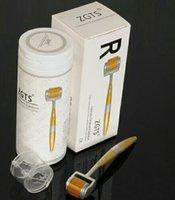 dermaroller micro aguja 192 al por mayor-ZGTS lujo de rodillos 192 ZGTS Titainium Aloy aguja Micro Derma con 192 agujas dermaroller dropship libres