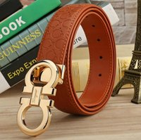 Wholesale gold metal belts for women - New brand belt high quality belts for men fashion designer belt luxury cow genuine leather belt Gold silver black buckle waistband