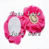 Wholesale Petal Shoes - Elegant Princess hair accessories for Party dress flower, full open petals pearls collar flower shoes accessories, rhinestone crystal flower