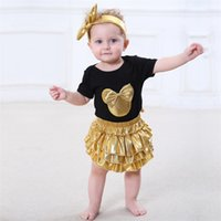 Wholesale Leotard Models - Headdress three-piece girl short-sleeved long-sleeved leotard Romper baby child climbing clothes ins explosion models free shipping