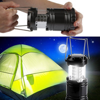 Wholesale emergency led flashlight lamp - LED camping lamp outdoor collapsible lantern emergency Flashlights Portable Black Collapsible For Hiking Camping Halloween Christmas